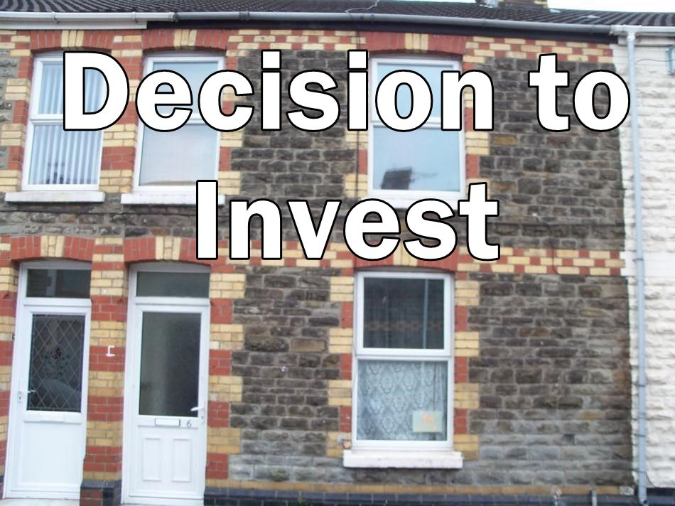 Picture of Gwendoline St property with Decision to invest written on it