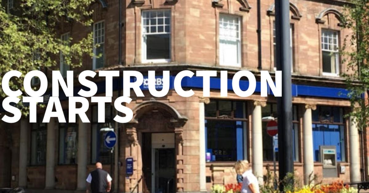 the bank job construction starts